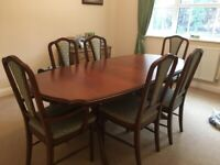 Barker & Stonehouse Extendable Dining Room Table and Chairs