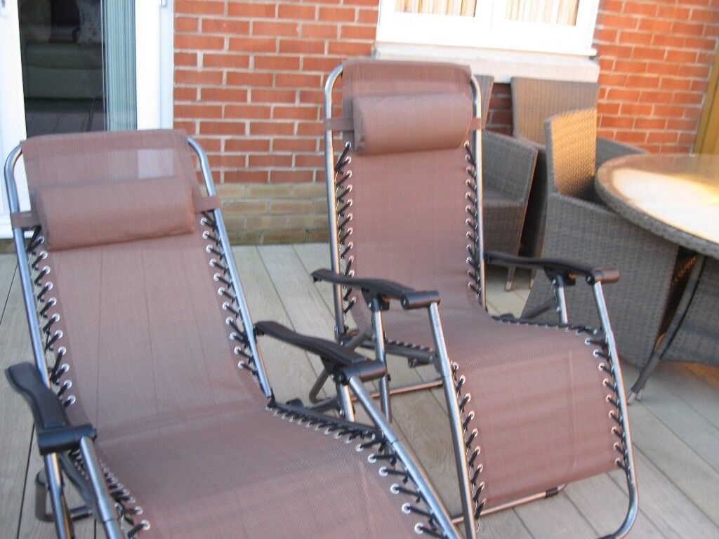 2 reclining folding sun garden chairs in denmead hampshire gumtree