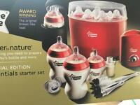 Tommee tippee closer to nature complete starter set + 2 extra bottles