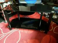 A black TV stand