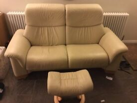 2 seat sofa stressless leather Erkorne
