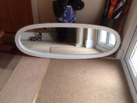 Mirror Oval shape needs refitting in a frame £5