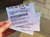 4x CityCruise tickets for river Thames cruise valid for 2 more days, only £20