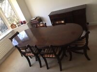 Mahogany Dining Table (Extending) & 6 Chairs *** Local Delivery ***