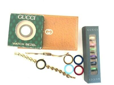 Vintage Gucci wristwatch, strap and strap accessories set boxed