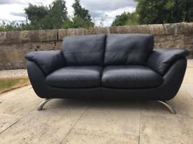 Italsofa Black Leather Suite