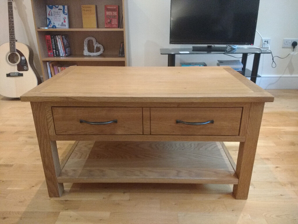 Dunelm Sidmouth Oak 1 Drawer Coffee Table