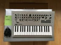 Korg Minilogue polyphonic synthesizer with box