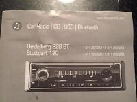 Blaupunkt Heidelberg 220 BT CD , BLUETOOTH, USB car radio , car stereo