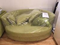Lime green cuddle chair