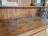 Lovely set of three Stackable Wire Baskets