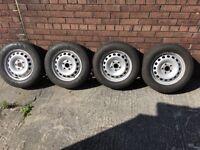 Vw caddy steel wheels of a 2012