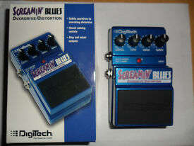 Digitech Screamin Blues Guitar Overdrive/ Distortion Effects Pedal BOXED SUPERB condition