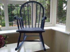 Child's Vintage Wooden Rocking Chair