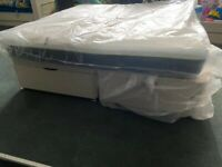 Brand new super king size ottoman bed base with memory foam mattress £249