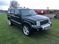 56 REG JEEP COMMANDER 3.0 CRD V6 LIMITED STATION WAGON 4X4 5DR-7 SEATS-SAT NAV-LEATHER-DRIVES WELL