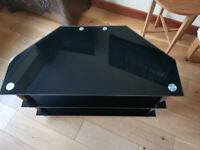 Black Glass Corner TV Stand excellent condition