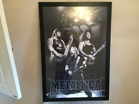 Metallica Professionally Framed Poster/Picture