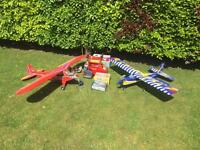 RC radio controlled Ripmax Trainer plane and spares