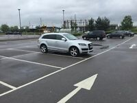 Audi Q7 S line 58 reg plate