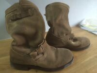 Mens size 8 suede superdry biker boots
