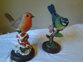 Atlas Editions' British birds collection: robin & blue tit