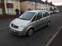Vauxhall Meriva 55 reg in silver,low miles ,1st to view will buy px options available