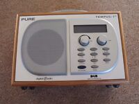 Pure Tempus 1XT DAB Alarm Clock Radio. Fully working in good condition all round.
