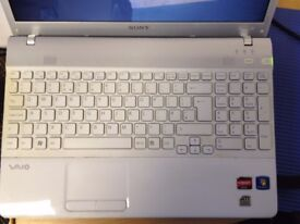 White Sony Vaio Laptop for sale