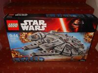 New Lego Millenium Falcon 75105 (£80) Spiderman bridge 76057 (£70)