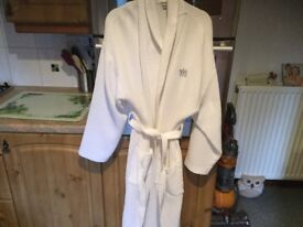 WAFFLE TYPE wedding dressing gown. Only used once to have make up done before getting dressed.