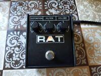 Proco Rat 2 Guitar Distortion Effect Pedal