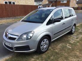 2007 (07) Vauxhall Zafira 1.6 Petrol 7 Seater 12 Months MOT