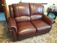 for sale / leather sofa reclines.. two seater and 2 armchairs 995.00