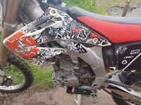 2008 cr450 new tyres new sprocket just serviced start and rides like it should