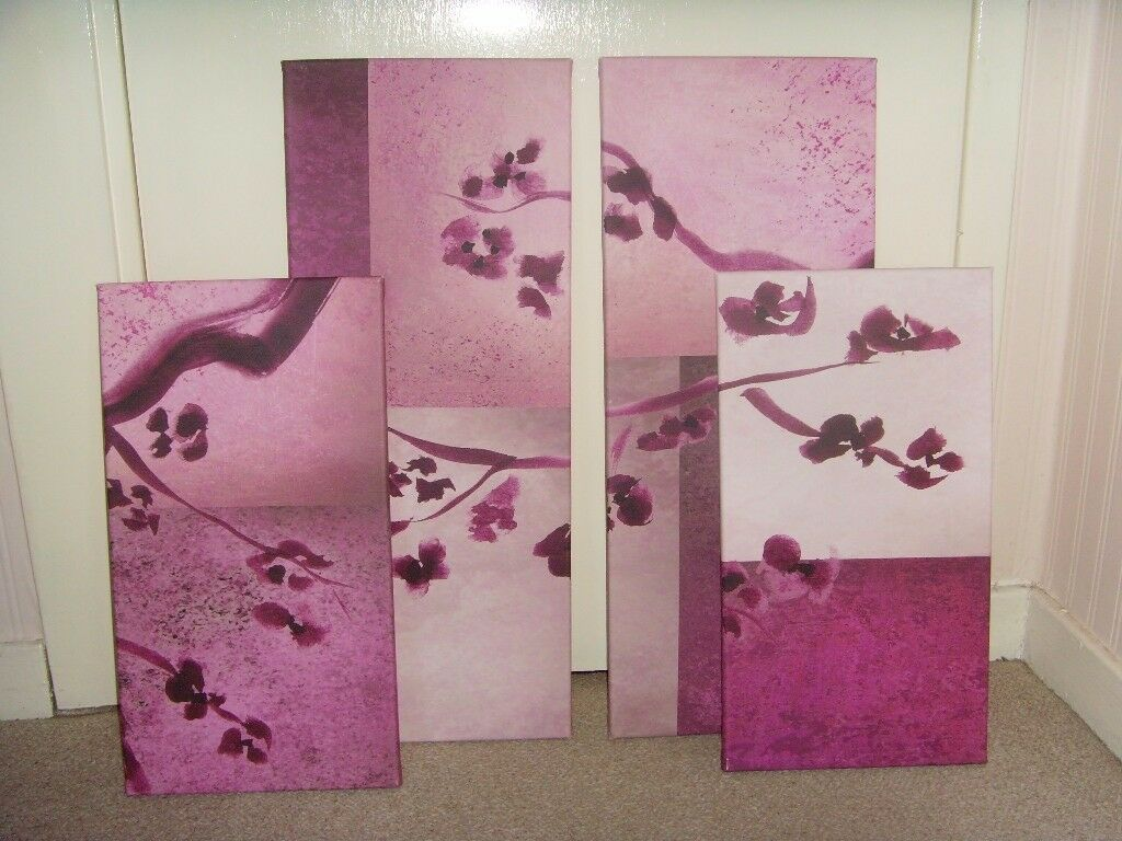 4 PIECE CANVAS PICTURE - £2