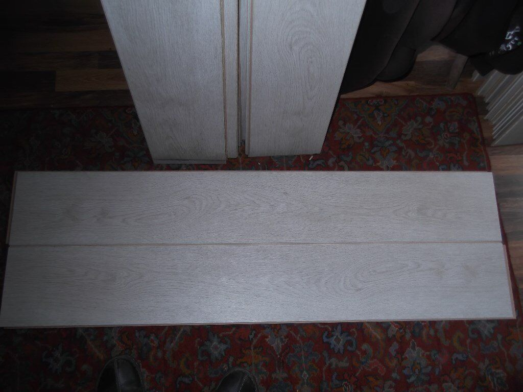 Laminate Flooring Used Silver Grey Colour Wakefield West Yorkshire