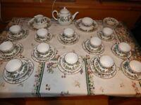 48 Piece (8 Place) Royal Worcester Lavinia Tea Service - RRP £460 Excellent Condition