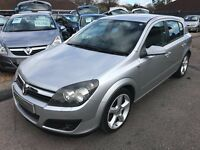 2005/55 VAUXHALL ASTRA 1.7 16V CDTI SRI,5 DOOR,SILVER,GREAT MPG,LOOKS AND DRIVES REALLY WELL