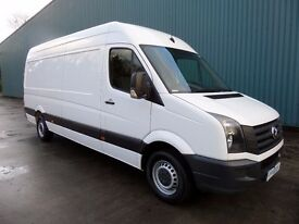 VOLKSWAGEN CRAFTER CR35 109 LWB H/ROOF OCT 2013 53901 MILES FSH ONE OWNER NICE TIDY VAN!!