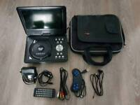 Portable DVD Player with TV, USB, Card Reader, Game Function, Swivel Screen Never Used.
