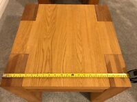 2 chunky Oak coffee tables (55cm wide, 55cm deep, 45cm tall) £40 each