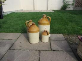 Earthenware stone jars