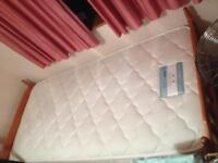 Single 3ft memory foam topped pocket sprung mattres