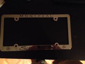 Contour plaque neuf/ Brand new License plate frame Mercedes
