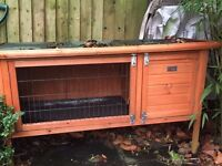 Indoor and Outdoor Rabbit/Guinea Pig hutch and cage - £50 for both