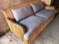 Wicker sofa and armchair (indoor/outdoor)