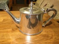 Silver plated coffee and tea pots with silver milk jug reduced to £60