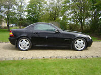Mercedes slk 200 convertible '03 black, manual, 78k miles vgc,fsh..private sal