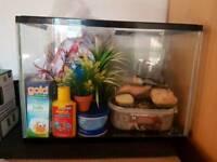 24L fish tank and accessories
